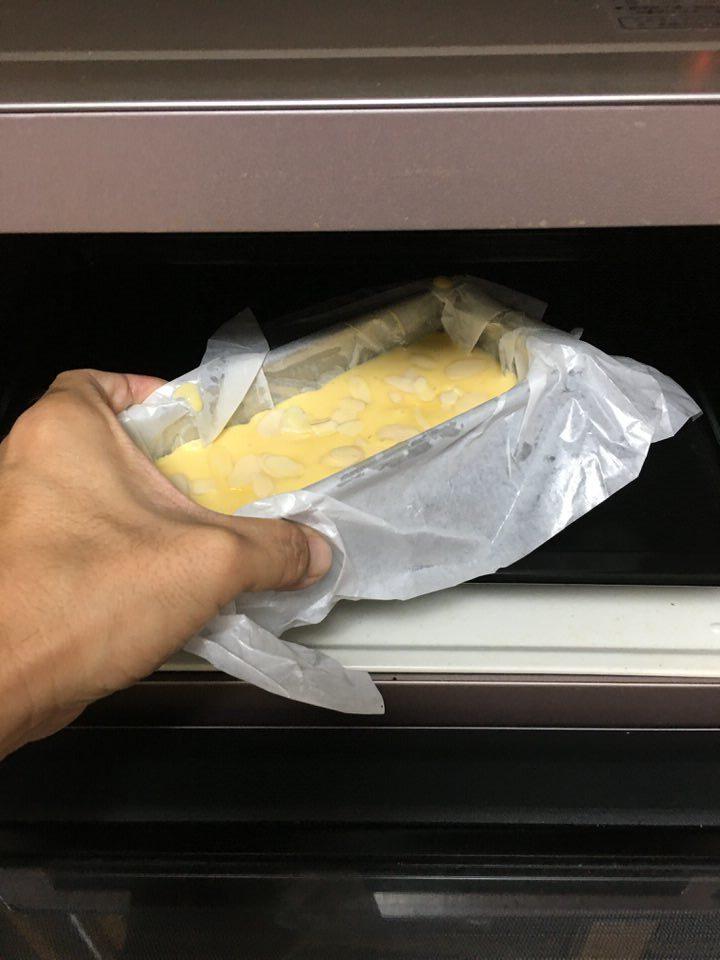 オーブンに入れて焼く