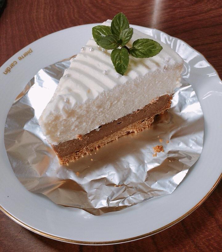 二層のチーズケーキ完成!