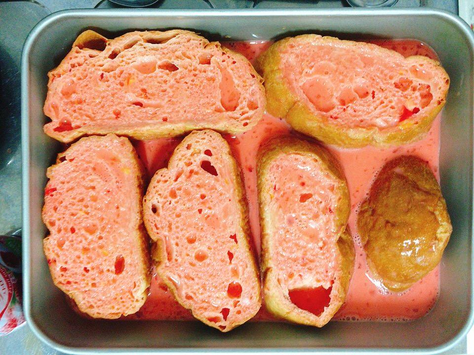 パンを浸す