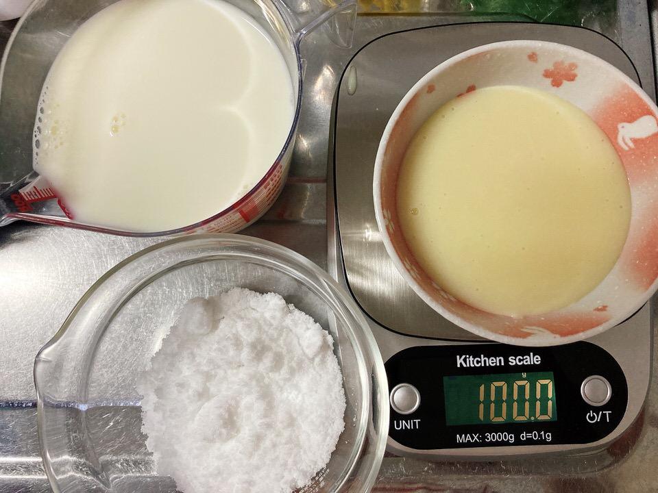ミルクジャムの材料