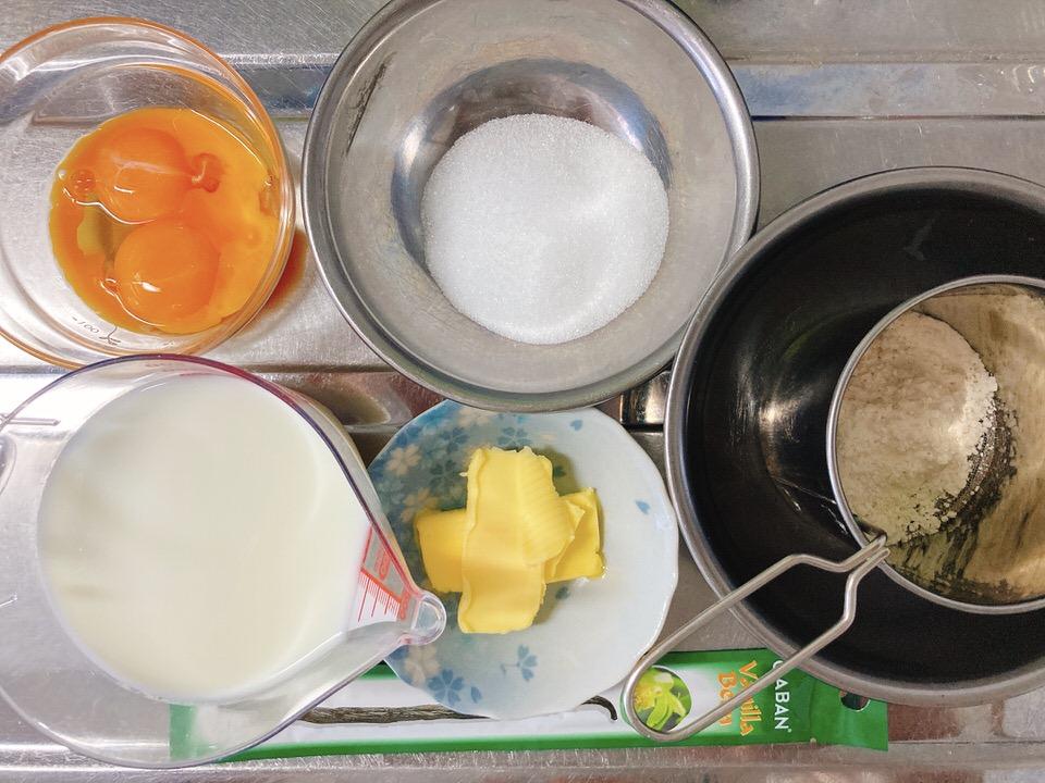 カスタードクリームの材料